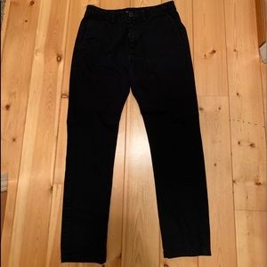 Men's black chinos